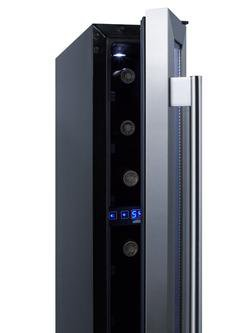 Image of Summit 6 Inch Built In Wine Cooler Stainless Steel SWC007