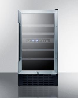 Image of Summit 3.3 Cu. Ft. Freestanding/Built In Wine Cooler Stainless Steel SWC182ZADA