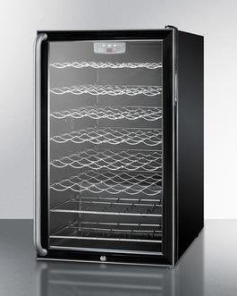"Summit SWC525LBISH 20"" 4.5 cu. ft. Black Freestanding Compact Wine Chiller"