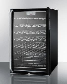"Summit SWC525LSHADA 20"" 4.5 cu. ft. Freestanding Compact Black Wine Chiller - ADA Compliant"