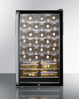 "Image of Summit SWC525LSH 20"" 4.5 cu. ft. Black Wine Chiller"