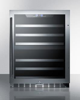 Image of Summit 44 Bottle Built In Dual Zone Wine Cellar – Stainless