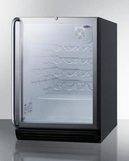 "Image of Summit 24"" Built-In and Freestanding Wine Cooler Brushed Aluminum SWC6GBLBISHADA"