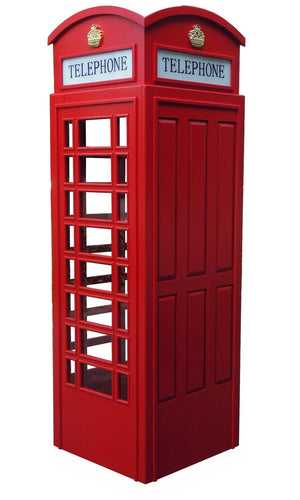 English Style Replica Telephone Booth in Red