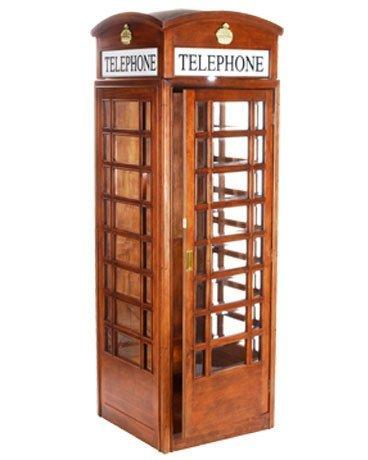 English Style Replica Telephone Booth in Mahogany