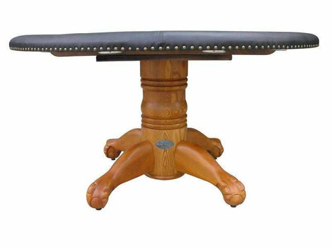 "Image of Berner Billiards 60"" Round Poker Table w/ Optional Dining Top in Oak"