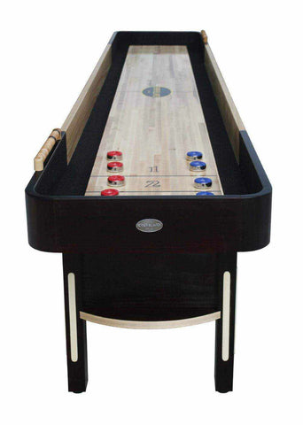 Berner Billiards The Premier Shuffleboard Table in Espresso