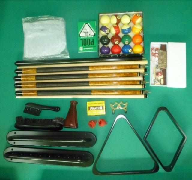 Premium Pool Table Accessory Kit in Mahogany, Cherry, Walnut or Black