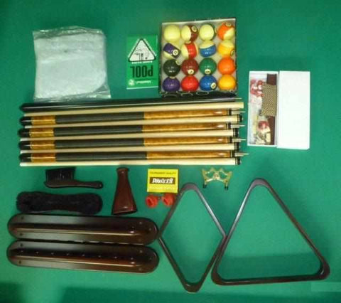 Image of Premium Pool Table Accessory Kit in Mahogany, Cherry, Walnut or Black