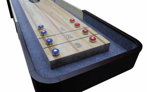 Berner Billiards The Pro Shuffleboard Table with Electronic Scoring in Espresso & Maple