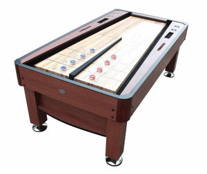 The Rebound Shuffleboard Table in Cherry
