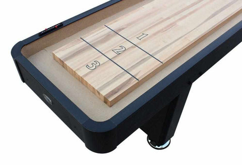 Image of Berner Billiards The Standard 12 foot Shuffleboard Table in Black