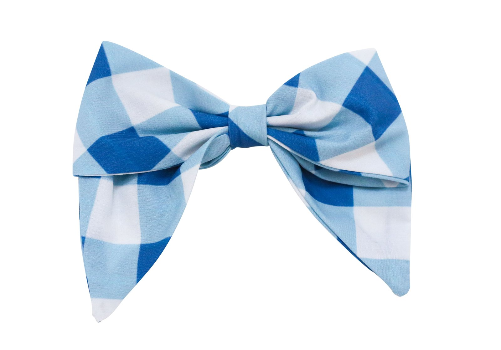 Blue Check Bow