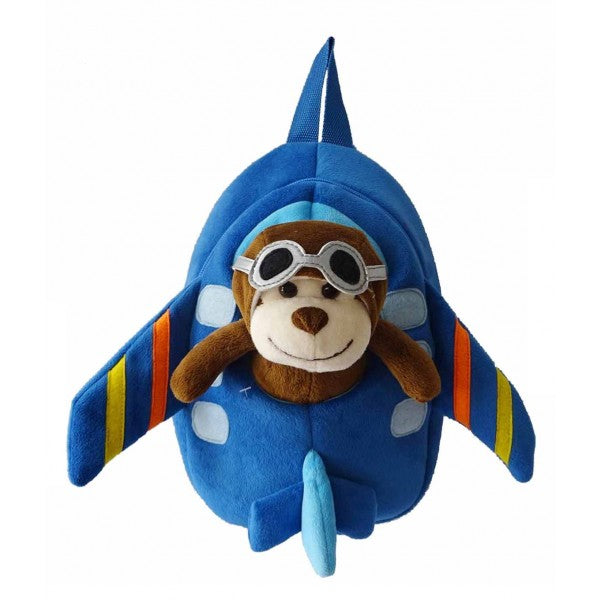 Airplane Backpack with Monkey