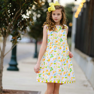 Girls Boutique Shabby Chic Floral Swing Dress