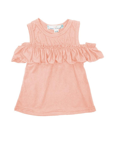 Lilly Peek-a-Boo Shoulder Top - Peach