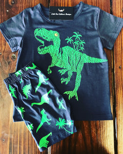 Dino World Shirt and Short Set