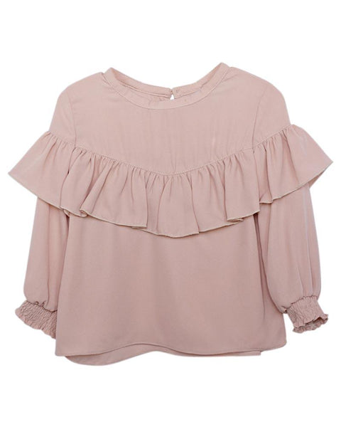 Meredith Vintage Blouse - Dusty Rose