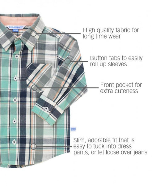 David Plaid Button Down Shirt