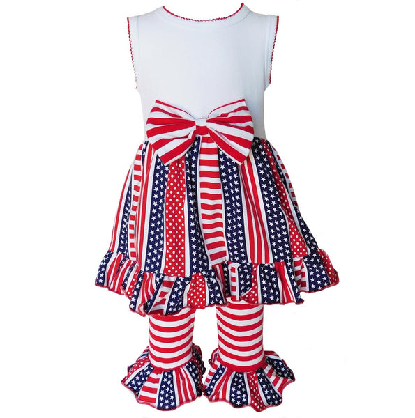 4th of July Stars & Stripes Capri Out (Size: 9-10)