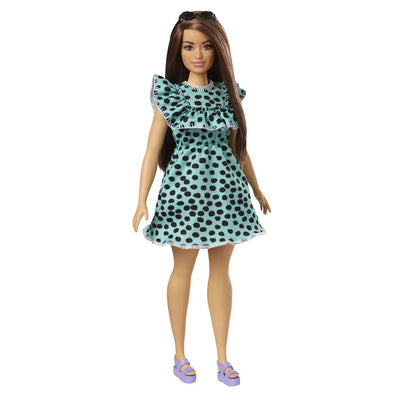 BARBIE NUKKE FASHIONISTAS #149 POLKA DOT DRESS - KURVIKAS