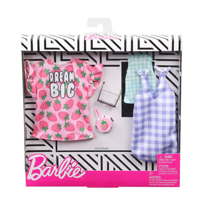 BARBIE VAATTEET 2-PACK - DREAM BIG