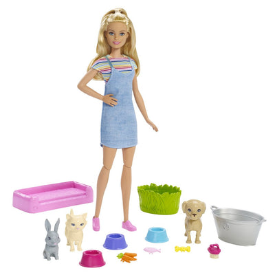 BARBIE NUKKE PLAY AND WASH PETS