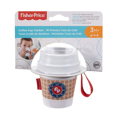 FISHER PRICE COFFEE CUP TEETHER -PURULELU