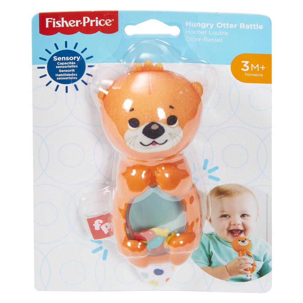 FISHER-PRICE HELISTIN HUNGRY OTTER RATTLE