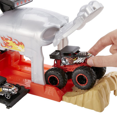 HOT WHEELS MONSTER TRUCK LAUKAISIN JA AUTOT - TEAM BONE SHAKER
