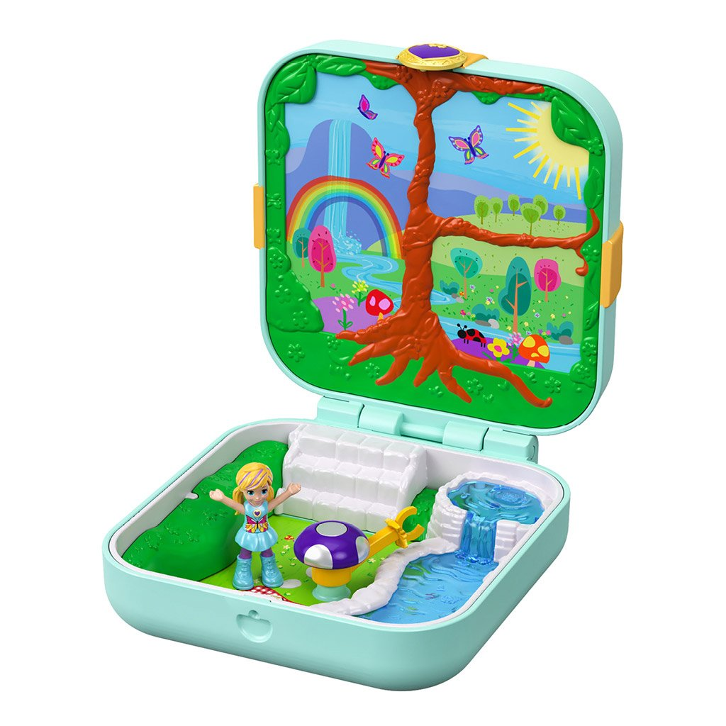 POLLY POCKET HIDDEN HIDEOUTS - FLUTTERRIFIC FOREST