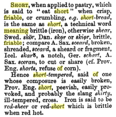 The meaning of short