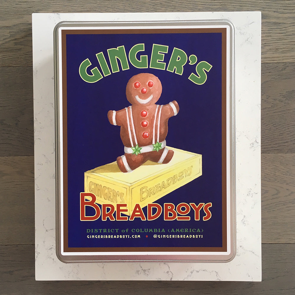Ginger's Breadboys gingerbread man cookie baking kit
