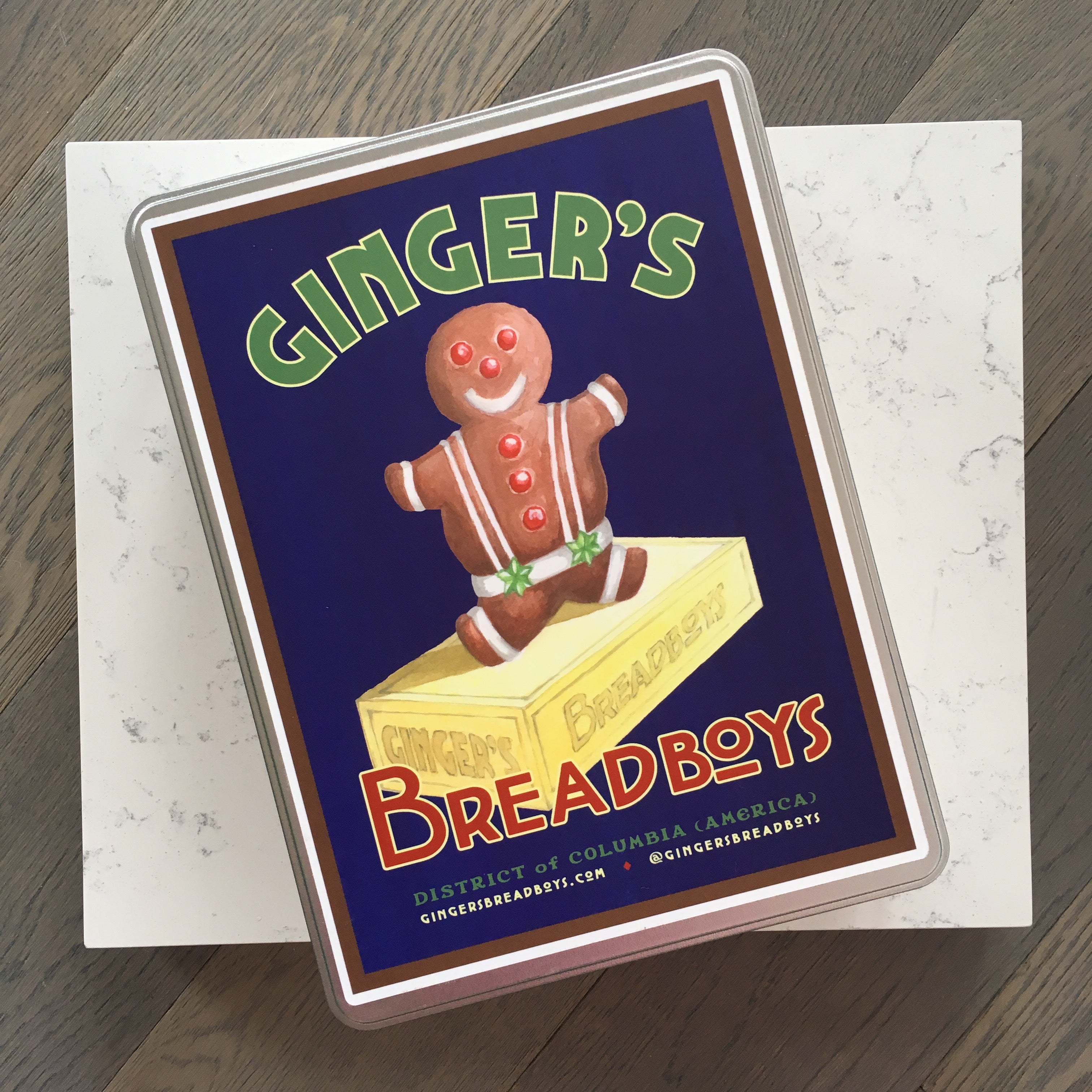 Delicious gingerbread boy cookies with the Ginger's Breadboys baking kit.