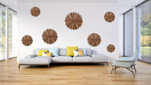 Starburst wood wall collage