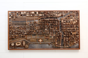 Chicago Cityscape 3d wall art