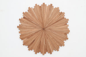 cherry starburst wood art