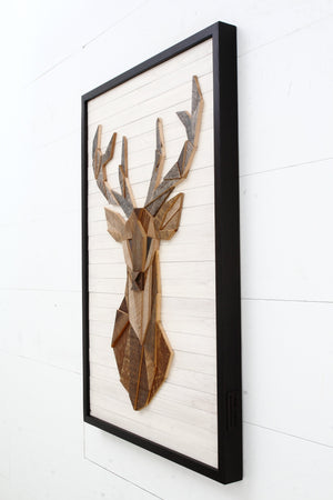 Deer Head wood wall art