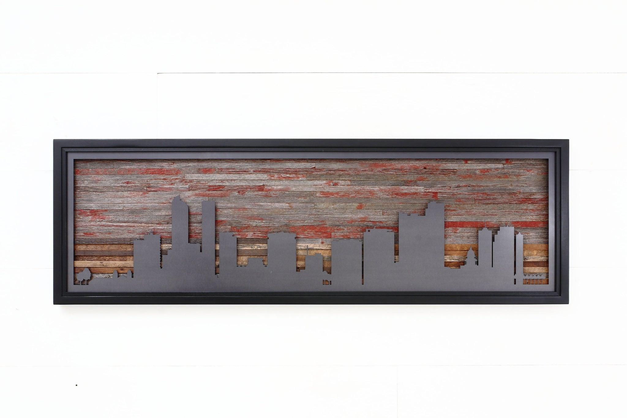 Denver metal skyline wall art