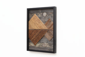 Reclaimed wood mountain range