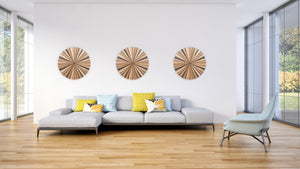 round wood wall art, circle wall art