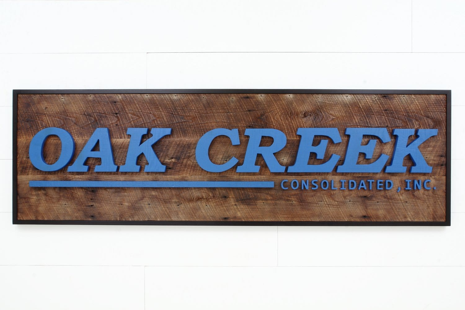 reclaimed wood company sign