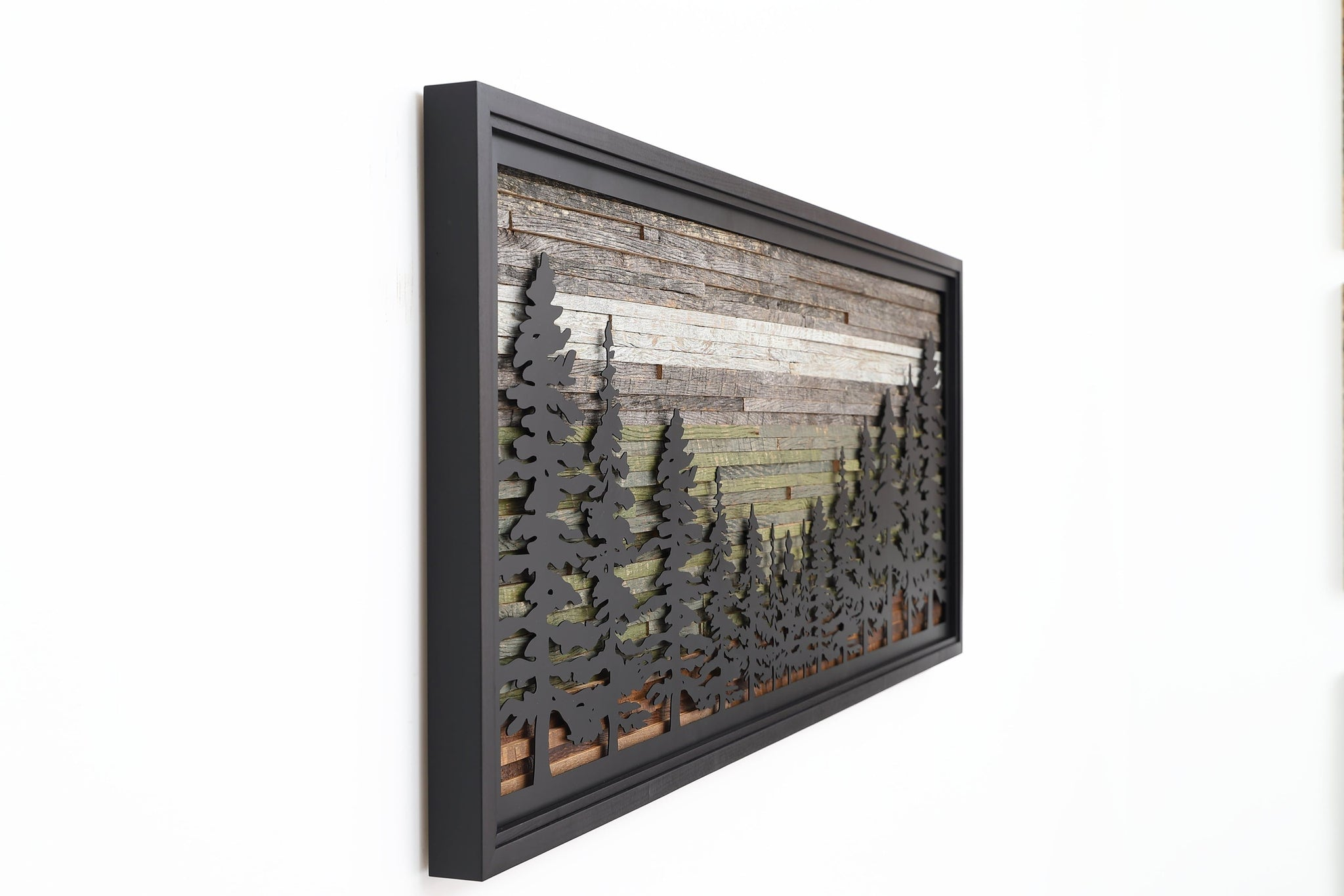 Metal Pine Tree Forest wall art