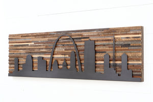 St Louis metal skyline wall art