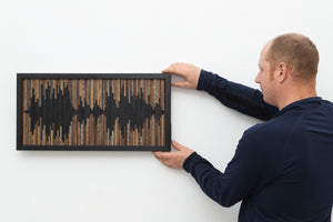 custom wood sound wave wall art