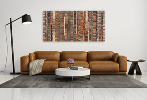 Abstract wood wall art
