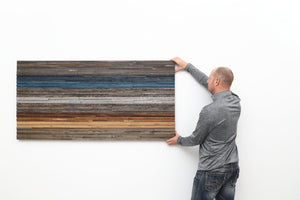 gradient wood artwork