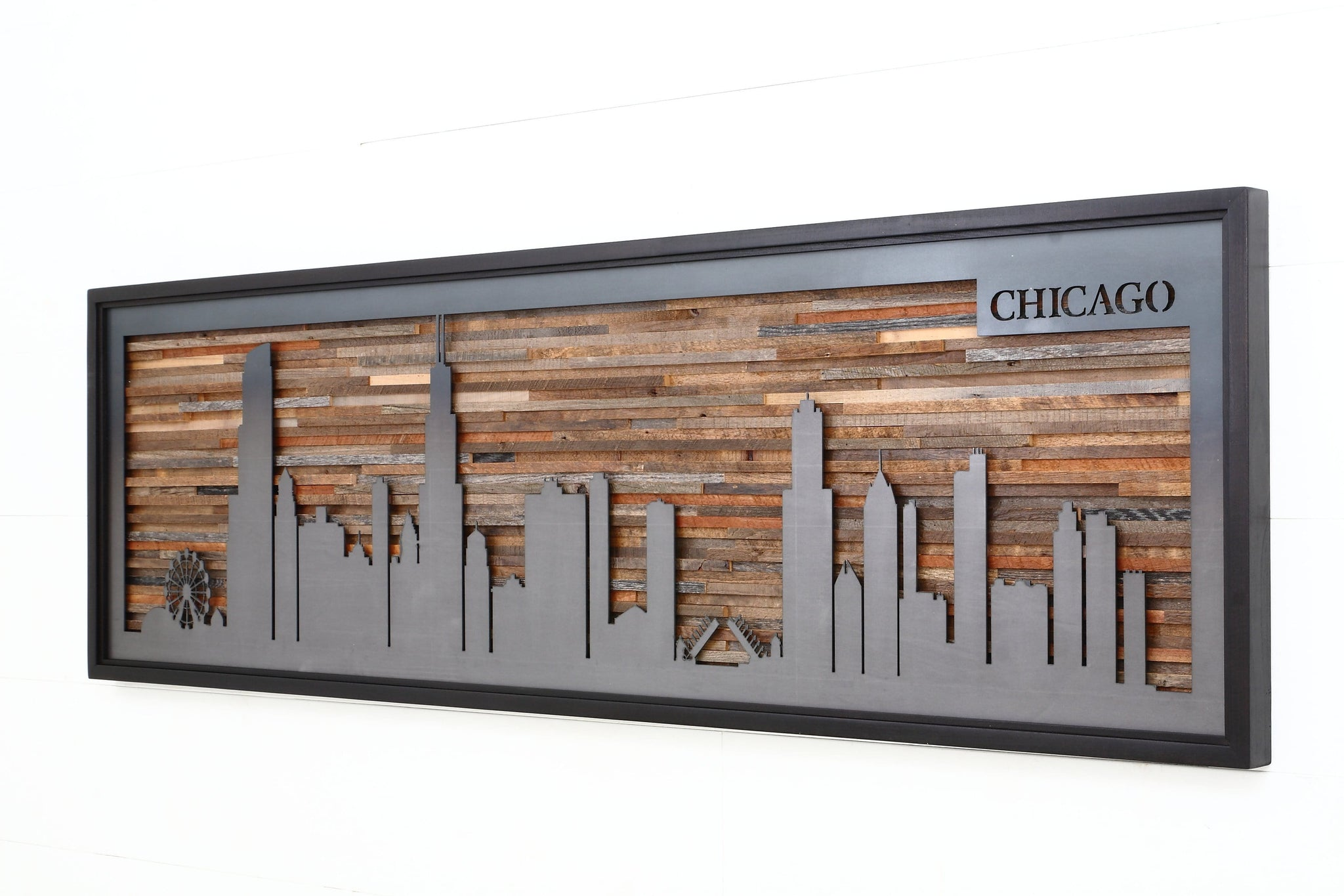 Chicago skyline, metal skyline
