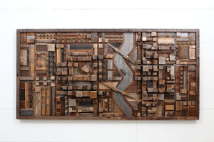 3 Dimentional wood cityscape