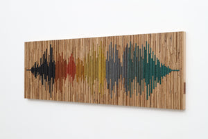 wood soundwave wall art